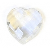 Glass Bead Briolettes 10x10mm Heart Shape Crystal